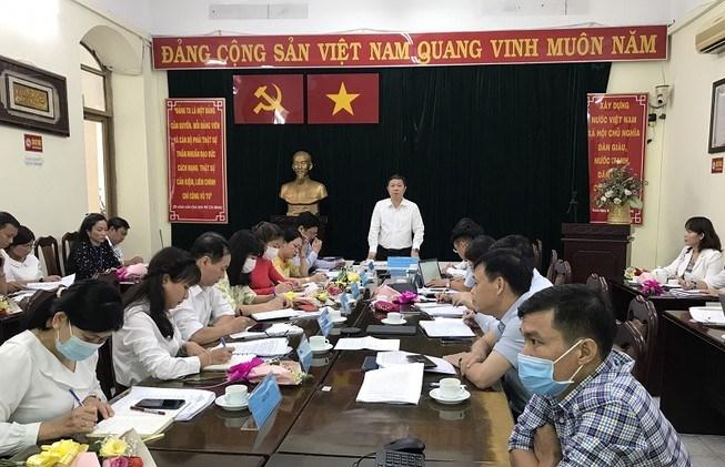 Phó Chủ tịch UBND TP.HCM Dương Anh Đức làm việc với Sở Thông tin và Truyền thông TP chiều 8/3. Ảnh: THANH TUYỀN