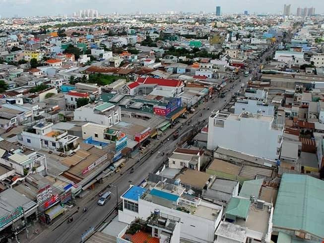 Một góc huyện Bình Chánh, TP.HCM. Ảnh: PLO