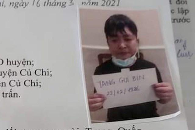 Công an huyện Củ Chi cho biết đã phát đi thông báo truy tìm đối tượng Yang Gui Bin