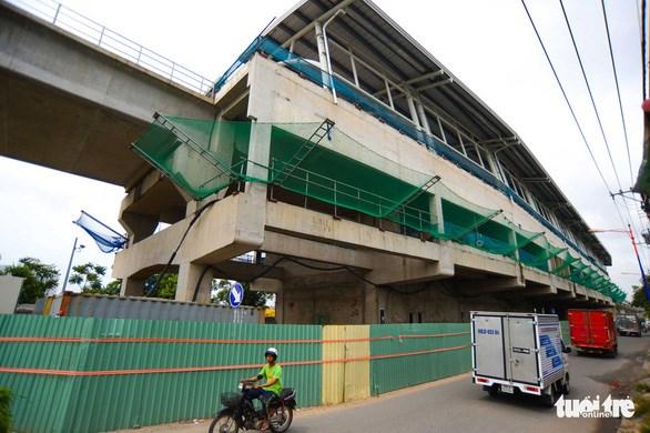 Nhà ga trên cao tuyến metro Bến Thành - Suối Tiên - Ảnh: QUANG ĐỊNH