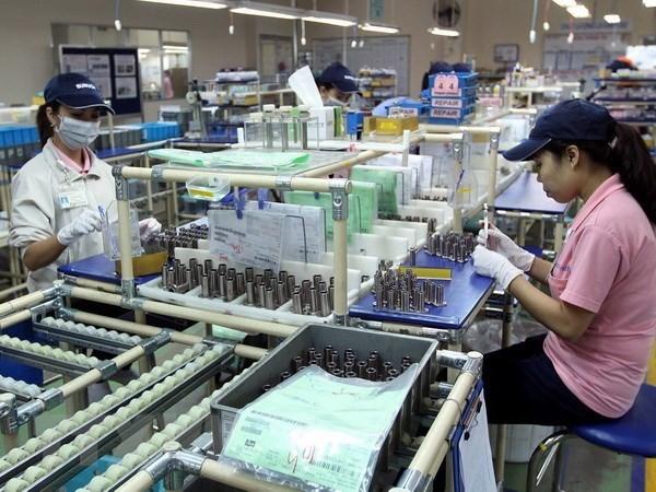 Sản xuất linh kiện cơ khí tại Công ty Misumi Việt Nam-Khu chế xuất Linh Trung, thành phố Thủ Đức, TP Hồ Chí Minh. (Ảnh: Thanh Vũ/TTXVN)