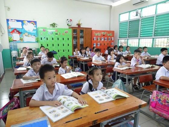 Học sinh lớp 1, Trường Tiểu học Đống Đa (quận Tân Bình) học theo Chương trình Giáo dục phổ thông2018