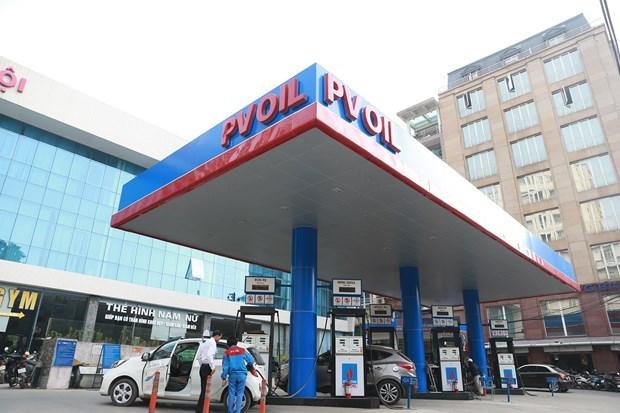 Một điểm bán xăng của PVOil. (Ảnh: Đức Duy/Vietnam+)