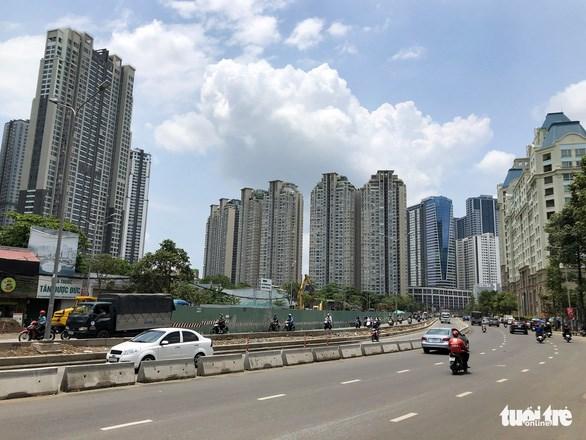 Đường Nguyễn Hữu Cảnh được nâng cấp toàn tuyến dài 3,2km - Ảnh: CHÂU TUẤN