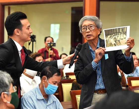 Ông Kiều Xuân Long phát biểu tại buổi họp mặt. Ảnh: VIỆT DŨNG