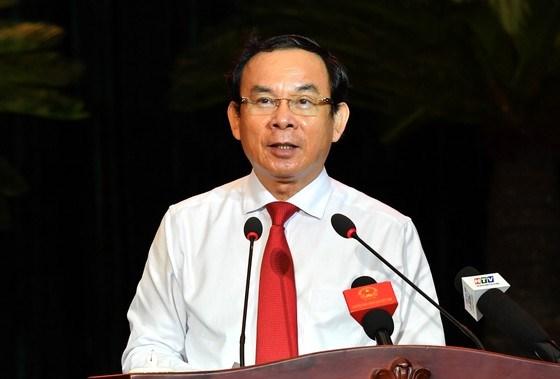 Đồng chí Nguyễn Văn Nên phát biểu tại buổi họp mặt. Ảnh: VIỆT DŨNG