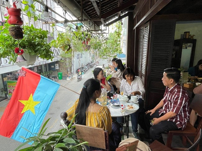 Một góc không gian Cà phê Biệt Động Sài Gòn ở 113A Đặng Dung, quận 1