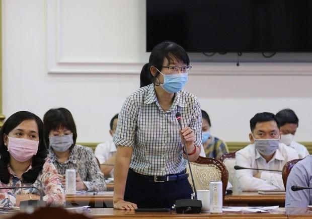 Các đại biểu tham dự Phiên họp phát biểu báo cáo tiến độ chuẩn bị, tổ chức bầu cử. (Ảnh: Xuân Khu/TTXVN)