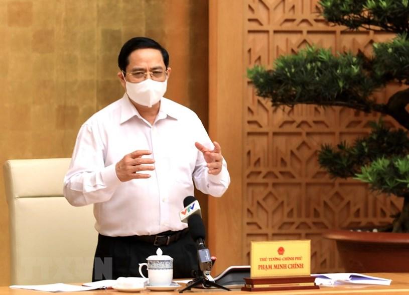 Thủ tướng Chính phủ phát biểu chỉ đạo tại cuộc họp. Nguồn: Vietnamplus