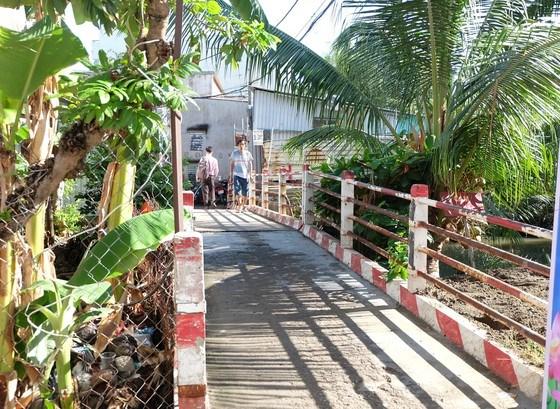 Cầu tại hẻm 803/58 đường Huỳnh Tấn Phát sắp được xây mới