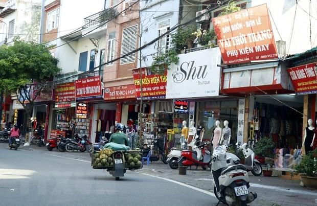 Các hộ kinh doanh ở thành phố Lào Cai. Ảnh minh họa. (Ảnh: Quốc Khánh/TTXVN)
