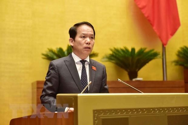 Chủ nhiệm Ủy ban Pháp luật của Quốc hội Hoàng Thanh Tùng. (Ảnh: Phương Hoa/TTXVN)