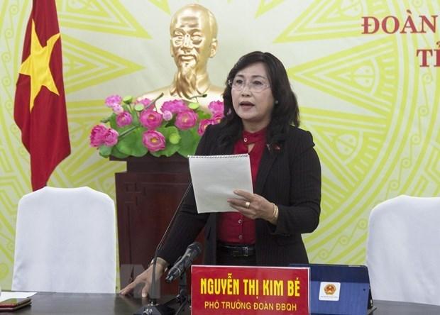 Đại biểu Quốc hội tỉnh Kiên Giang Nguyễn Thị Kim Bé. (Ảnh: Hồng Đạt/TTXVN)