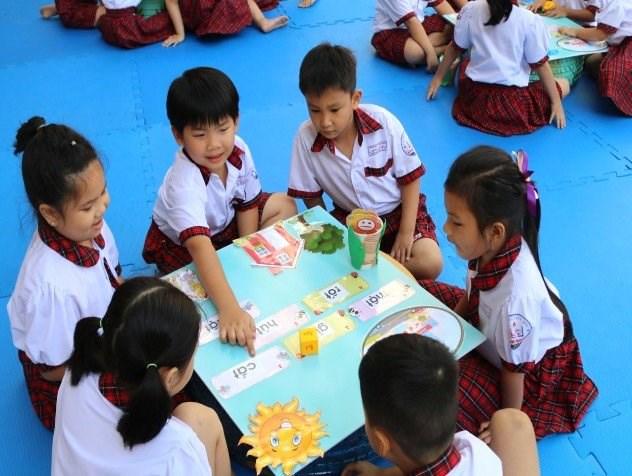 Học sinh lớp 1 Trường TH Linh Chiểu, TP Thủ Đức. Ảnh minh hoạ