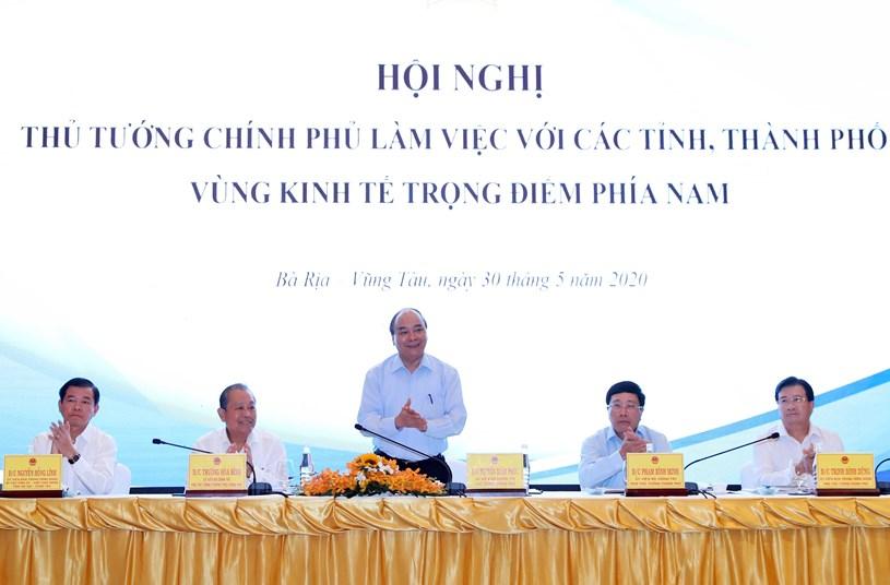 Thủ tướng Chính phủ làm việc với các tỉnh, thành phố Vùng KTTĐ phía Nam - Ảnh 1