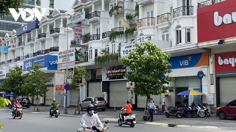Hầu hết các cửa hàng, văn phòng trên địa bàn quận Gò Vấp đều đóng cửa để phòng chống dịch.