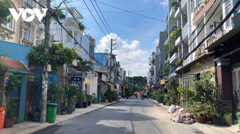 Các tuyến đường, ngõ hẻm của quận Gò Vấp khá vắng vẻ.