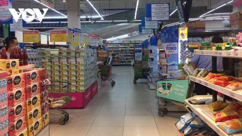 Hàng hóa trong các siêu thị Gò Vấp đã được lấp đầy trở lại.
