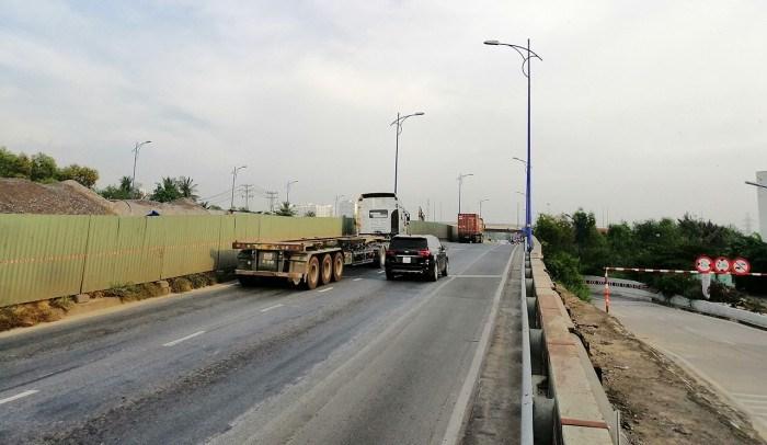 Dự án mở rộng đường Đồng Văn Cống đang thi công, dự kiến hoàn thành trong năm 2021