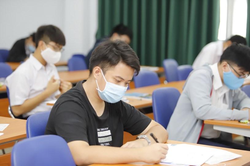 Thí sinh tham gia kỳ thi đánh giá năng lực của ĐH Quốc gia TP.HCM năm 2021