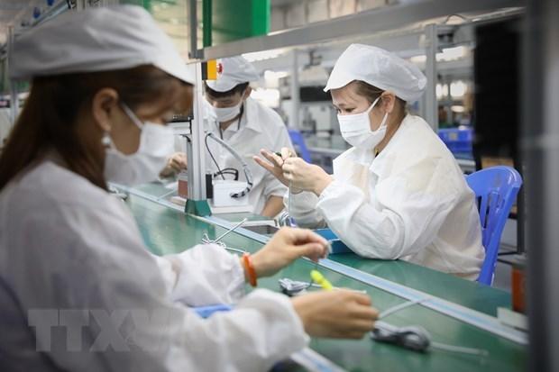 Doanh nghiệpnỗ lực vừa duy trì sản xuất vừa phòng chống dịch.(Nguồn: TTXVN)