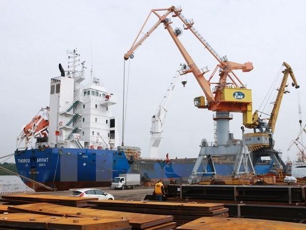 Xuất khẩu tiếp tục giữ nhịp tăng trưởng cao trong 6 tháng đầu năm. (Ảnh: TTXVN)
