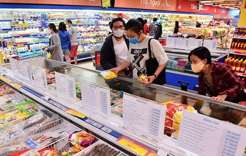 Khách đến siêu thị gia tăng mạnh. Ảnh:Saigon Co.op