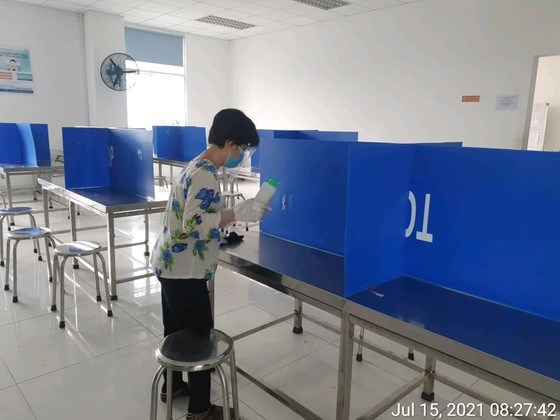 Chỗ ăn cho người lao động tại Công ty CP Công nghiệp hỗ trợ Minh Nguyên được vệ sinh kỹ lưỡng