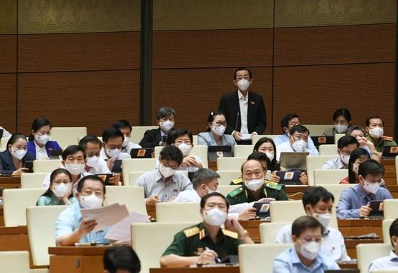 Đại biểu Trần Hoàng Ngân (TPHCM) phát biểu sáng 21-7. Ảnh: VIẾT CHUNG