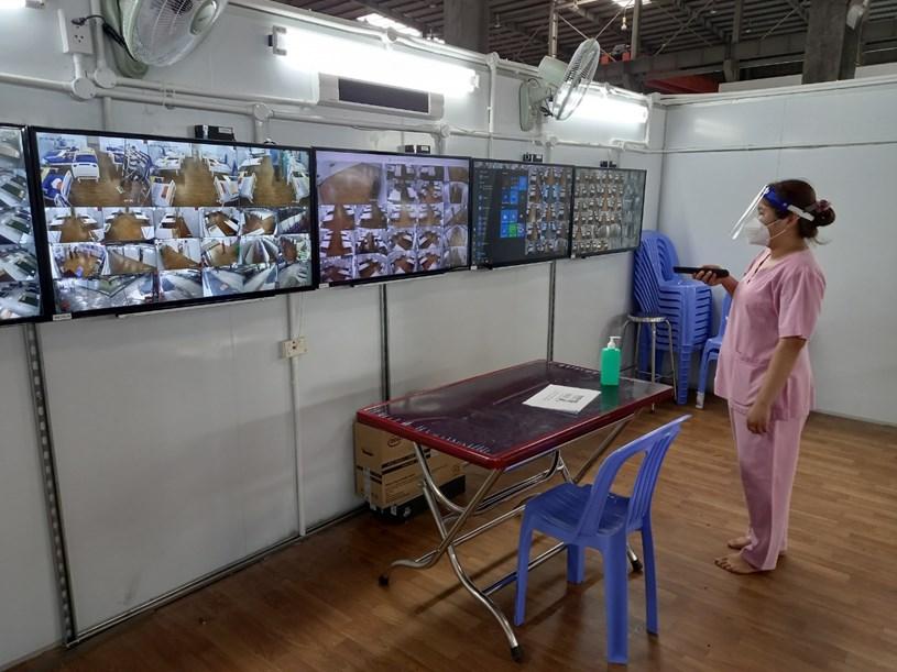 Các phòng bệnh đều kết nối Camera giám sát để kịp thời nắm bắt tình hình bệnh nhân