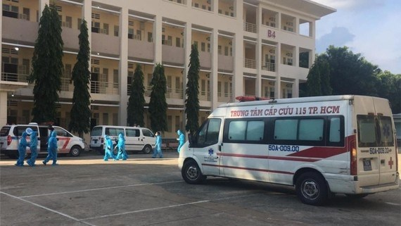 Bệnh viện dã chiến số 1 đặt tại Ký túc xá của Trung tâm Giáo dục Quốc phòng và An Ninh thuộc Đại học Quốc gia TP.HCM.