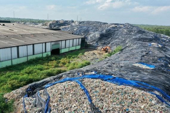 Khu tập kết rác tại Nhà máy rác Vietstar, xã Phước Hiệp, huyện Củ Chi Ảnh: HOÀNG HÙNG