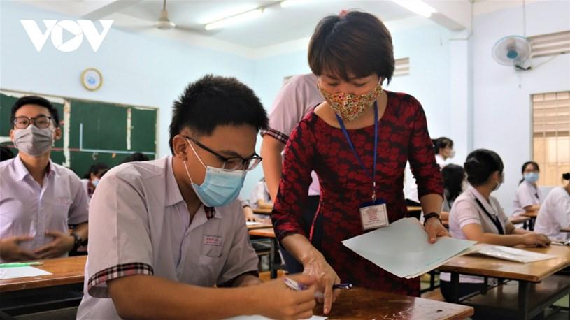 Học sinh TP.HCM dự thi tốt nghiệp THPT đợt 1.
