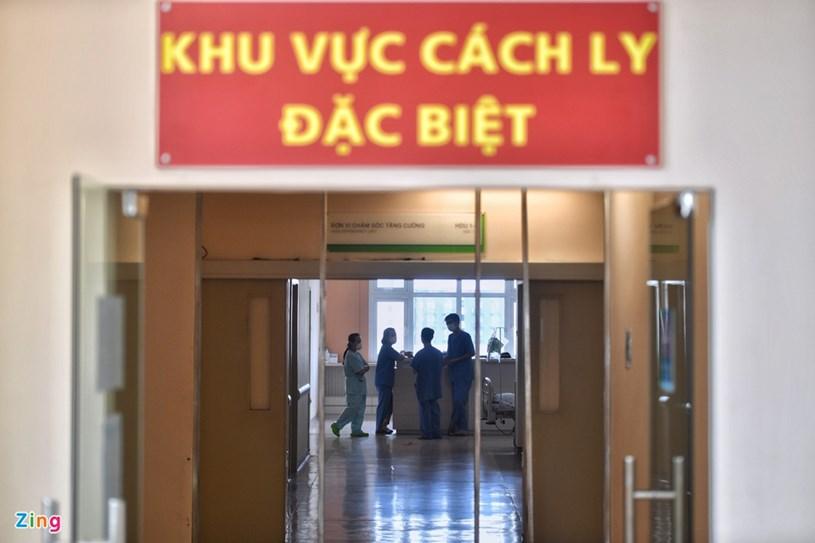Khu hồi sức được bố trí tại tầng 5 của Bệnh viện Quốc tế City. Đây là khu vực dùng để cách ly bệnh nhân nghi mắc Covid-19, có lối đi và không khí đối lưu riêng.