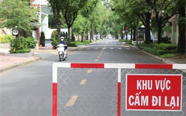 Đường phố Thành phố Hồ Chí Minh trong thời gian giãn cách xã hội. (Ảnh: Trần Xuân Tình/TTXVN)