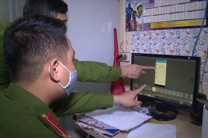 Lực lượng Công an xác minh vụ việc lừa đảo qua mạng
