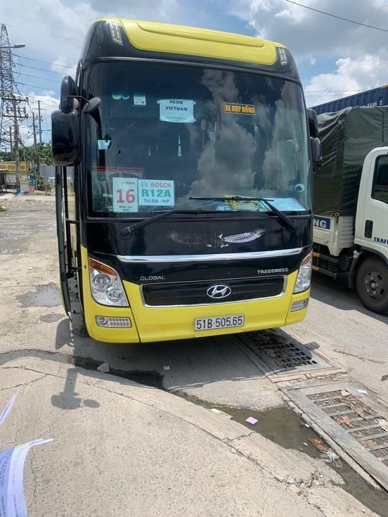 Xe khách chở người từ TPHCM về tỉnh Bắc Giang trái phép