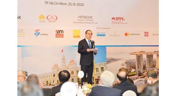 """""""TPHCM là một cầu nối tốt nhất trong mối quan hệ giữa Việt Nam và Hoa Kỳ"""", đồng chí Nguyễn Thiện Nhân bày tỏ.Ảnh: VIỆT DŨNG"""
