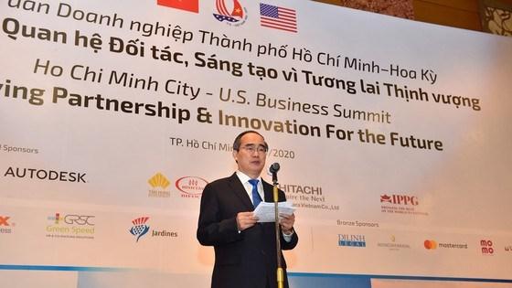 Bí thư Thành ủy TPHCM Nguyễn Thiện Nhân, khẳng định, việc tổ chức diễn đàn nhân kỷ niệm25 năm thiết lập quan hệ ngoại giaoViệt Nam và Hoa Kỳ làrất ý nghĩa. Ảnh: VIỆT DŨNG