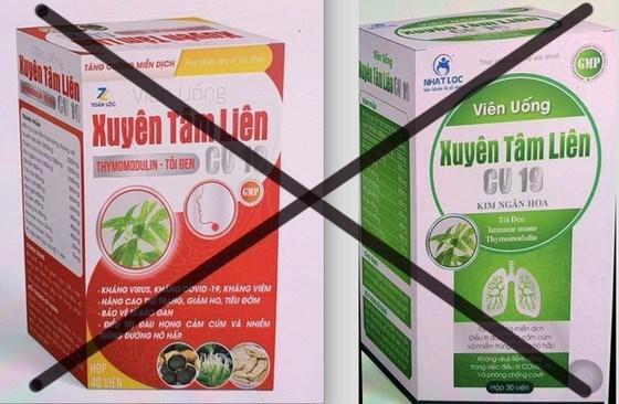Hai sản phẩm thực phẩm chức năng ghi công dụng kháng Covid-19 bị Cục An toàn thực phẩm cảnh báo