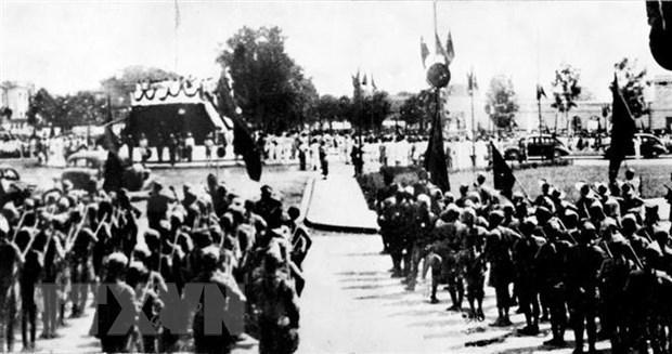 Đông đảo nhân dân tập trung tại vườn hoa Ba Đình nghe Chủ tịch Hồ Chí Minh đọc Tuyên ngôn Độc lập ngày 2/9/1945. (Nguồn: Tư liệu TTXVN)