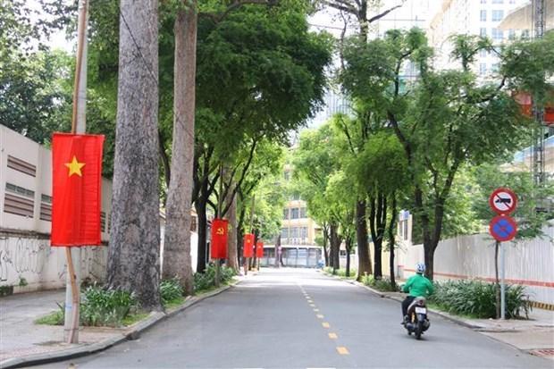 Đường Nguyễn Du, Quận 1. (Ảnh: Thanh Vũ/TXVN)