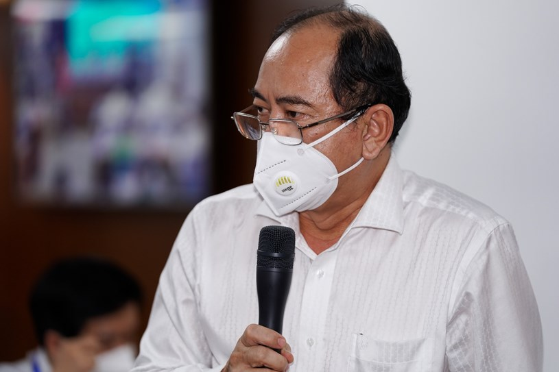 Giám đốc Sở Y tế Tăng Chí Thượng phát biểu tại họp báo. Ảnh: Chí Hùng
