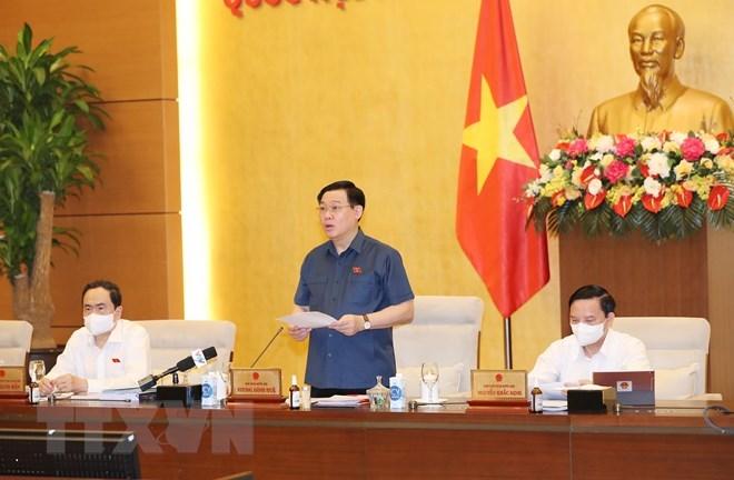 Chủ tịch Quốc hội Vương Đình Huệ phát biểu khai mạc. (Ảnh: Trọng Đức/TTXVN)