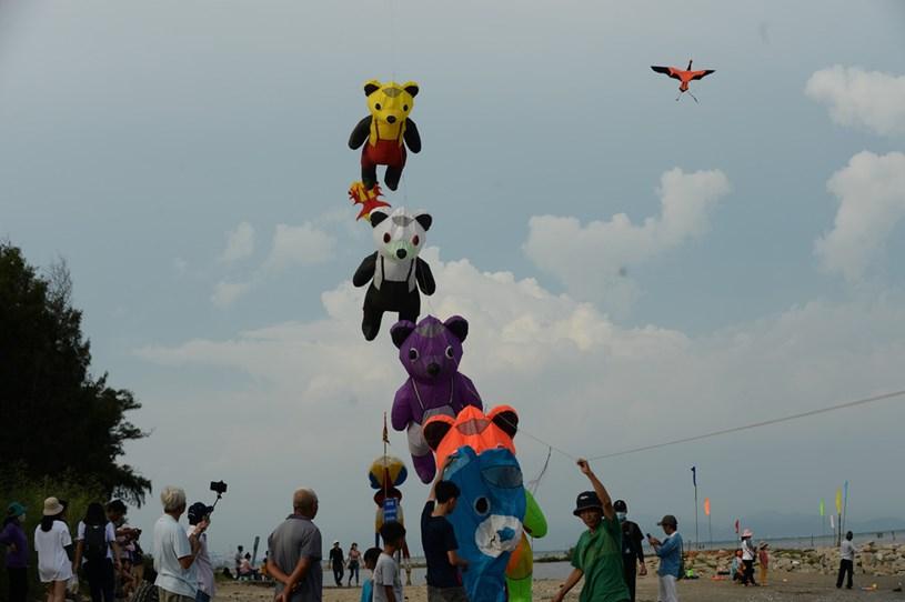 Những chú diều ngộ nghĩnh trên bầu trời tạo cảm giác vui thú cho du khách