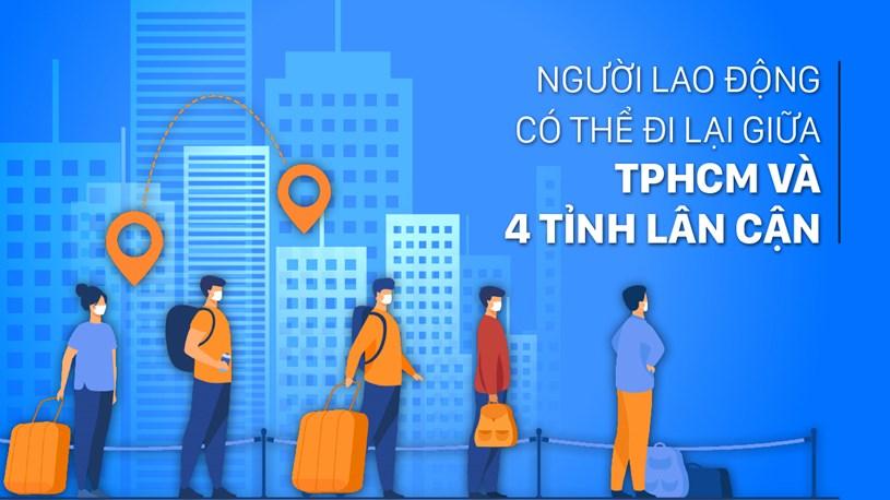 Người lao động có thể đi lại giữa TPHCM và 4 tỉnh lân cận - Ảnh 1