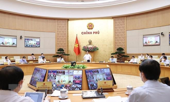 Thủ tướng Phạm Minh Chính chủ trì Phiên họp Chính phủ thường kỳ tháng 9. (Ảnh: Dương Giang/TTXVN)