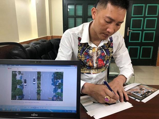 Bùi Xuân Huấn mới bị xử phạt hành chính vì tung tin giả. (Ảnh: CA)