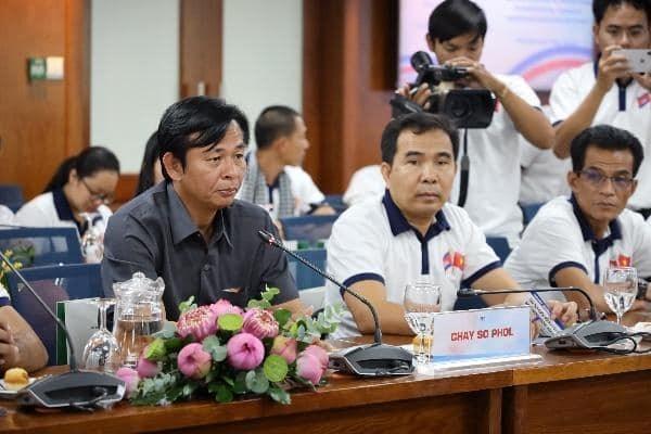 Ông Chay So Phol, Phó Quốc Vụ Khanh, Bộ Thông tin Campuchia phát biểu tại buổi tiếp - Ảnh: Ngọc Tiến