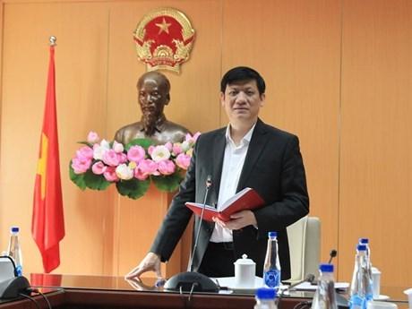 Bộ trưởng Bộ Y tế Nguyễn Thanh Long phát biểu tại hội nghị. (Ảnh: PV/Vietnam+)